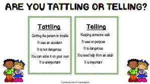 Tattling Vs Telling Chart
