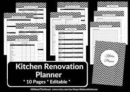 Kitchen Remodel Checklist Planner Printable Renovation Home