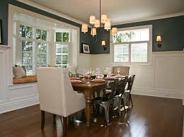 chair rail designs dining room transitional with armchair bay window cafe
