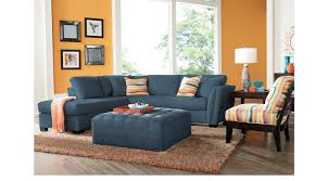 Cindy Crawford Home 179999 Calvin Heights Indigo 3 Pc Sectional Living Room