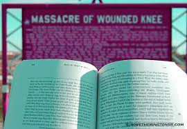 book review bury my heart at wounded knee the word of jeffthe  bury my heart at wounded knee in front of the wounded knee memorial on the pine