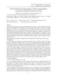 Essay About Critical Thinking Pdf Critical Thinking And Argumentative Writing Inspecting