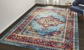 medallion stain resistant frise area rugs various sizes