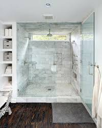bathroom rain shower ideas. Shower Window Design Master Bath Ideas Seamless Glass Marble Surround Niches Hex Floor Rain Head Dual Heads Bathroom D