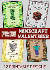 Valentines Day Cards For Boys Free Printable Minecraft Valentines Day Cards Meet Penny