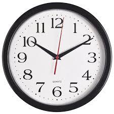 bernhard s black wall clock silent non ticking quality quartz battery operated 10 inch
