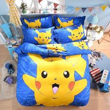 pokemon bed set cartoon bedding cute for kids boys girls 3 single pokemon bed set