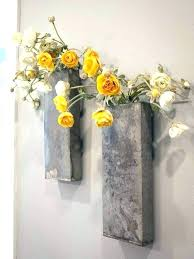 metal wall hanging vase fascinating sconce innovative best ideas about art innovati large metal wall vase