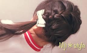 女の子ヘアアレンジ編み込みアレンジ スポンサー広告hair