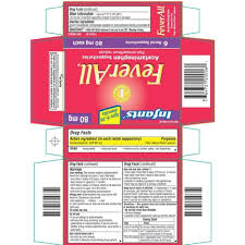 Feverall Infants Acetaminophen Suppositories 6 Rectal