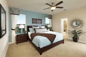 bedroom: Small Bedroom With Pleasant Master Bed Using Light Blue Bedding  Color Paired With Sweet