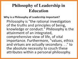 personal leadership philosophy essay edu essay
