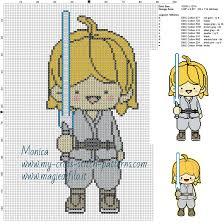 Schema Punto Croce Principessa Leila Star Wars 100x120 6 Colori