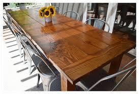 diy outdoor farmhouse table made from salvaged fir