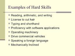 Hard Skills List Resumes Resume Hard Skills Lists