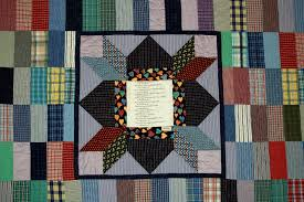 Quilts • Rhino Quilting & Center of bereavement quilt made of ties and a print of her favorite poem Adamdwight.com
