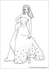 Barbie Coloring Pages For Kids