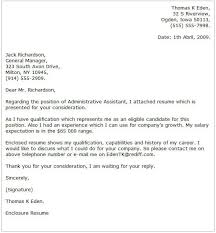 Sample Cover Letter For Administrative Assistant Administrative Assistant Cover Letter Examples Cover