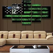 canvas art wall decor seattle seahawks