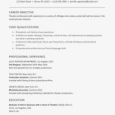 Qualification Sample For Resume A Good Sample Theater Resume