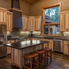 hickory cabinets with dark wood floors google search love the overall look