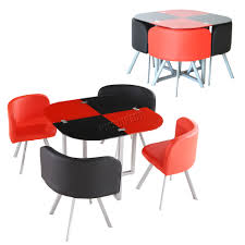 glass top dining table set 4 chairs and chair sets with black red km