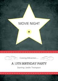 Movie Night Invitation Templates Movie Night Party Invita Template Free Star Wars Wedding Twinkle
