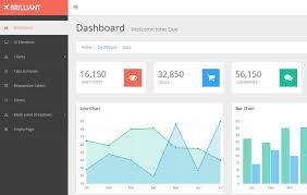 Web Chart Template Free Brilliant Free Bootstrap Admin Template 2020 Webthemez
