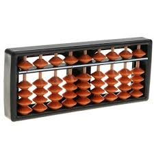 9 Digit 5 Beads Japanese Soroban Abacus Calculator Kids Math Learning Toy Ebay
