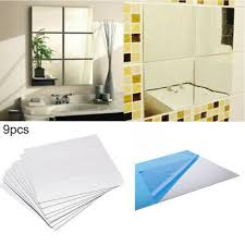 <b>48 PCS MIRROR Titles</b> Square Glass Q6P5 - £72.55 | PicClick UK