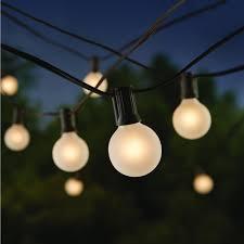 Home Depot Cafe Lights Hampton Bay 24 Light Cafe String Light G40 Frosted