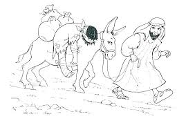Good Samaritan Bible Story Coloring Pages Page The Inside Special