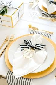 white table settings. White Table Setting Black And Is Spruced Up With Gold Glitter Touches Settings A