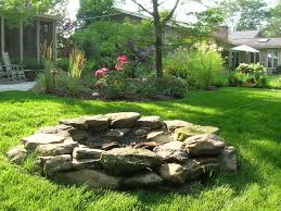 rustic fire pit. All Natural Fire Pit #PinMyDreamBackyard Rustic