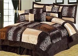 queen animal print comforter set purple
