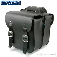 add skull logo motorcycle saddle bags left right pouch for harley for honda tortoise