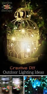 creative outdoor lighting ideas. Creative Outdoor Lighting Ideas - From DIY Solar Lights To Candles, Mason Jars String T