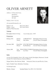 Free Acting Resume Template Free Guide Actor Cv Template Monpence