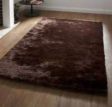 dakota plain chocolate modern style rugs marvellous looking shaggy at low prices pinterest rug wool rug and fluffy brown a93 fluffy