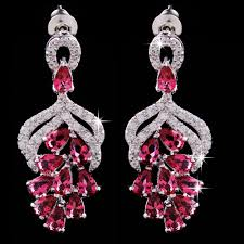 crystal drop ad earrings