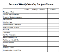 sample household budget sample monthly budget sample personal budget personal budget