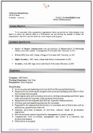 Resume format Mba 1 Year Experience Fresh How to Write An Excellent Resume  Sample Template Of An