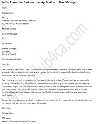 Application Letter Formats Application Letter For Business Loan To Bank Manager Ca Club