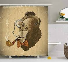 funny shower curtain. Camel Smoking Shower Curtain - Funny Curtains Amazon