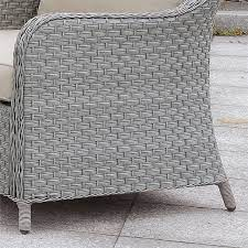 Furniture of America Efren Contemporary Wicker Patio Chair with Cushion in  Gray - IDF-OS1881-CH