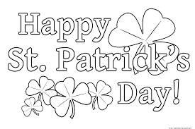 St Patricks Day Coloring And Coloring Pages Free St Day Free St Day Coloring Sheets