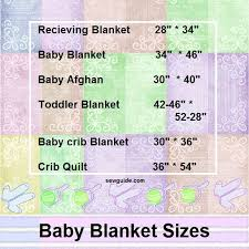 Know your BABY'S BLANKET & QUILT SIZE - Sew Guide & blanket sizes Adamdwight.com