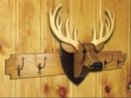 Coat Rack Woodworking Plans Fascinating Deer Coat Rack And Trophy Woodworking Plan Set 32 Plans Included