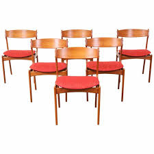 dining room chairs red erik buck 49 teak dining chairs for o d mobler teak dining with