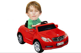 donald s ten year old son barron and his toy mercedes